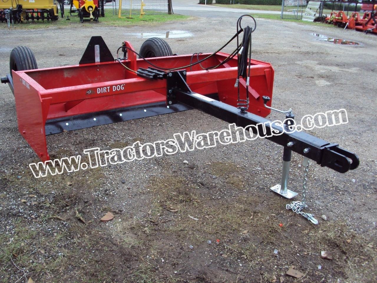 Large 8' pull type drag scraper / box blade - Tractors Warehouse